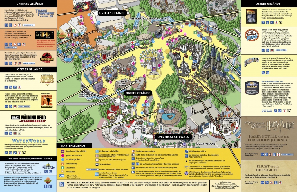 Universal Studios Hollywood Map 1 - Squarectomy - Universal Studios Map California 2018