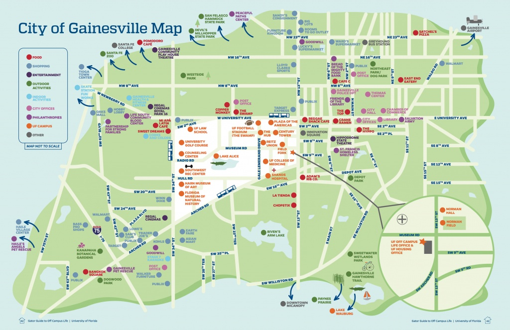 University Of Florida Off Campus Life - Christina Singer - Map Of Gainesville Florida And Surrounding Cities