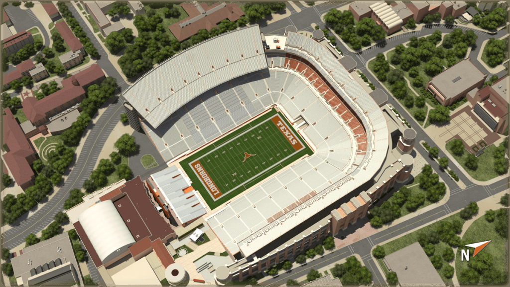 University Of Texas At Austin Football - University Of Texas Football Stadium Map
