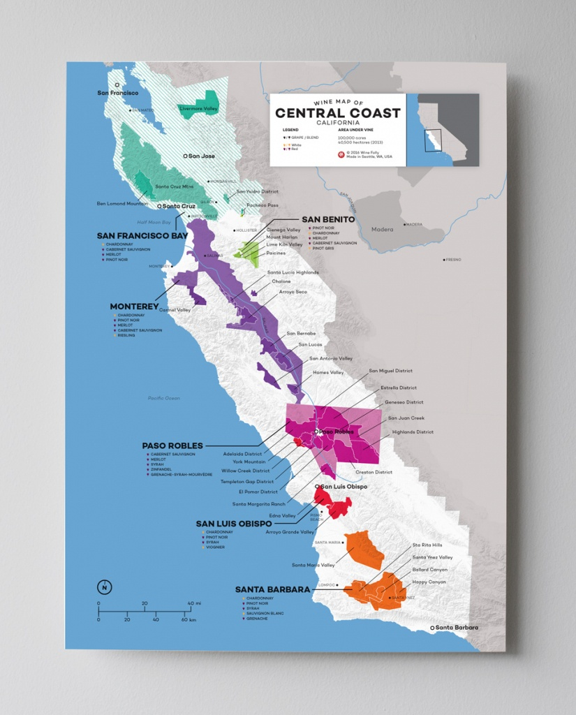 Updated! Wine Maps Of The World | Wine Folly - Map Of Northern California Wineries