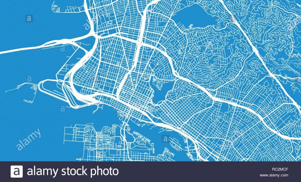 Urban Vector City Map Of Oakland, California, United States Of - Oakland California Map