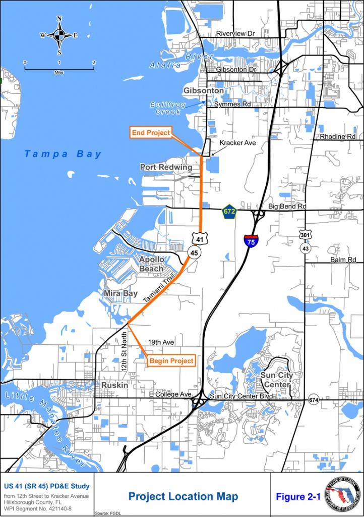 Us 41 (Sr 45) Project Development & Environment (Pd&e) Study - Map Of Florida Showing Apollo Beach