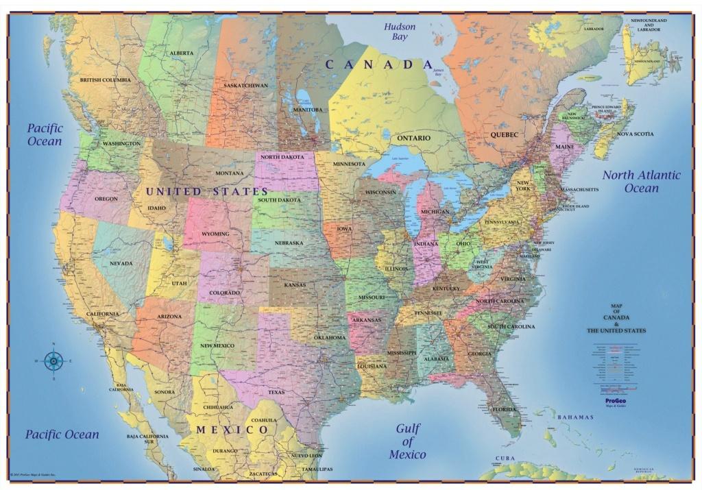 Us And Canada Wall Map New Usa Canada Map Toronto Fresh Trucker S - Toronto California Map