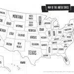 Us Map The South Printable Usa Map Print New Printable Blank Us   Blank Us State Map Printable