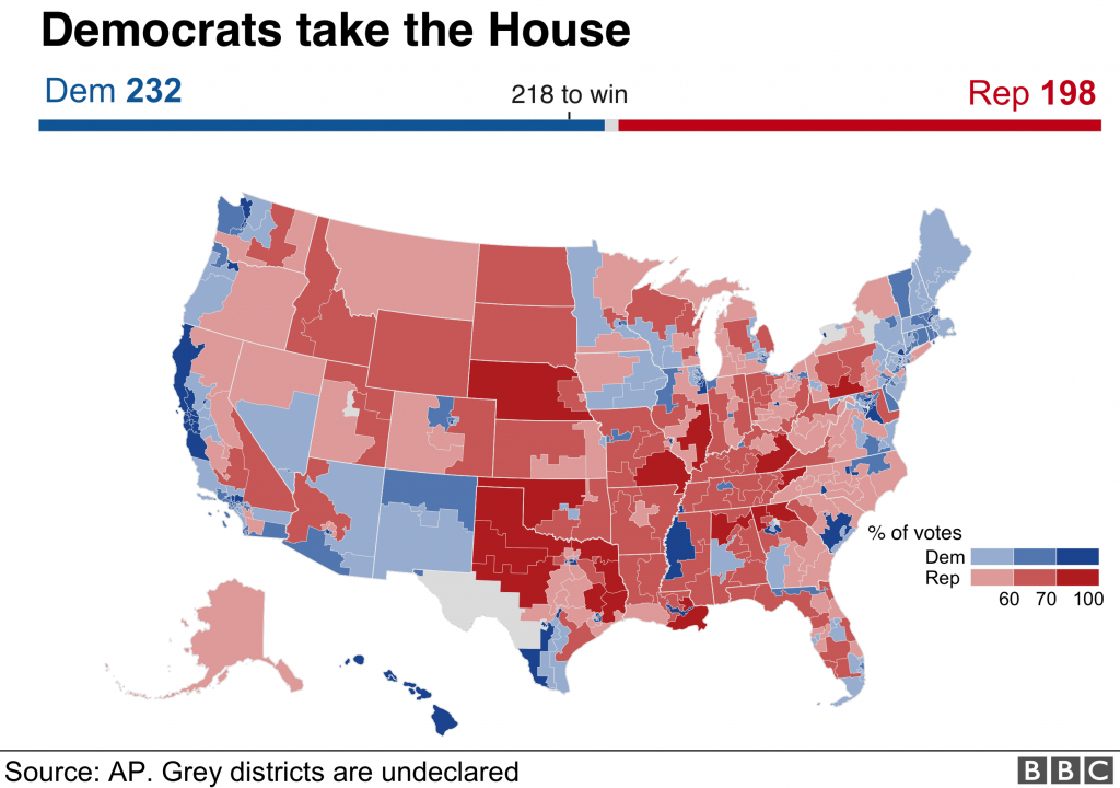 Us Mid-Term Election Results 2018: Maps, Charts And Analysis - Bbc News - Texas Representatives Map