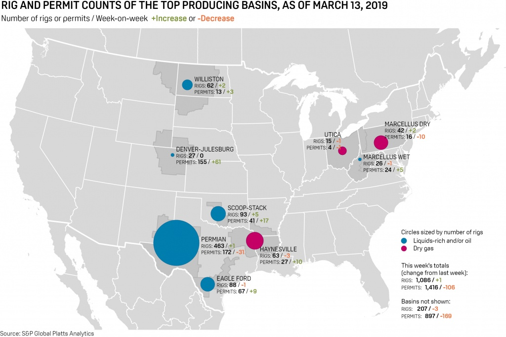 Us Oil And Gas Rig Count Rises On Week To 1,086: S&p Global Platts - Texas Rig Count Map