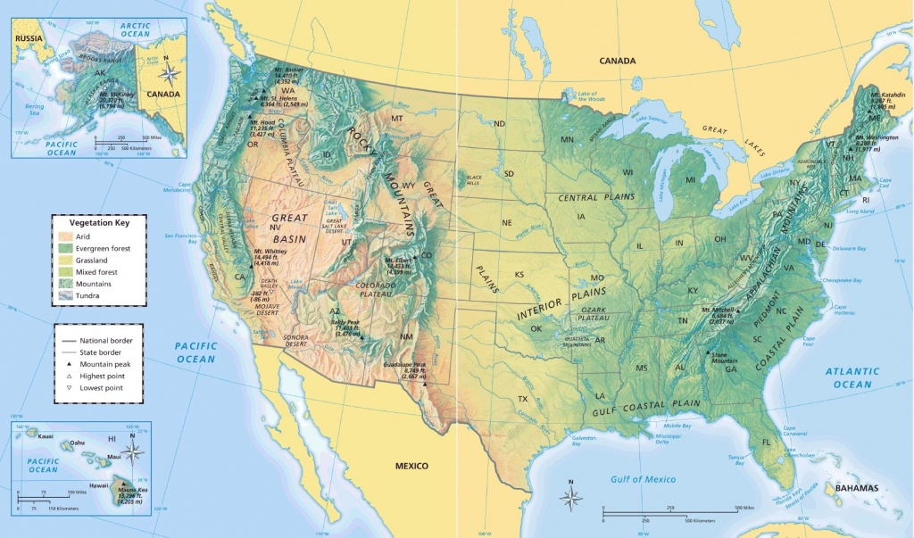 Us Physical Map United State Geography Map - Maplewebandpc - Physical Map Of The United States Printable