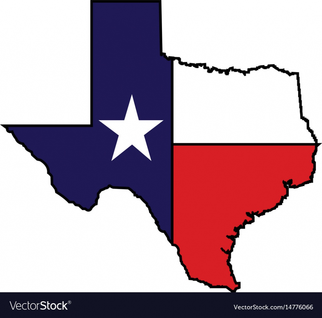 Us State Of Texas Map Logo Design - Texas Map Vector Free
