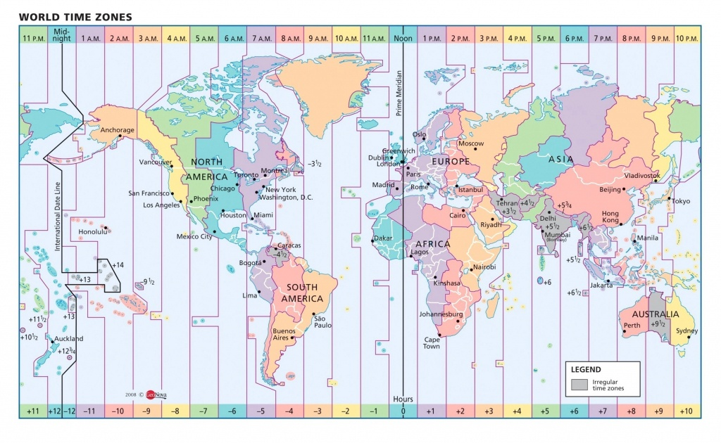 Us Time Zones Printable Map Valid Google World Copy Timezone - Maps With Time Zones Printable