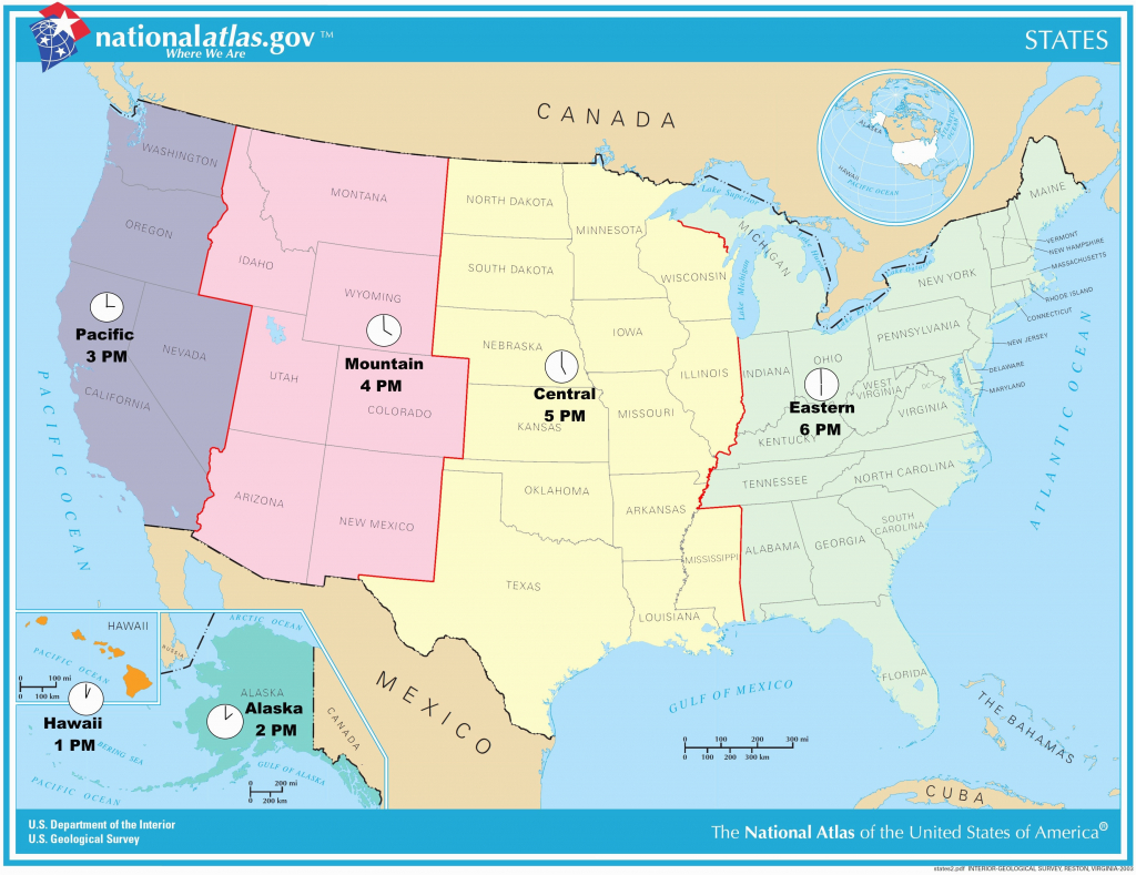 Us Timezone Map With States Timezonemap Beautiful Time Zone Maps - Us Timezone Map Printable