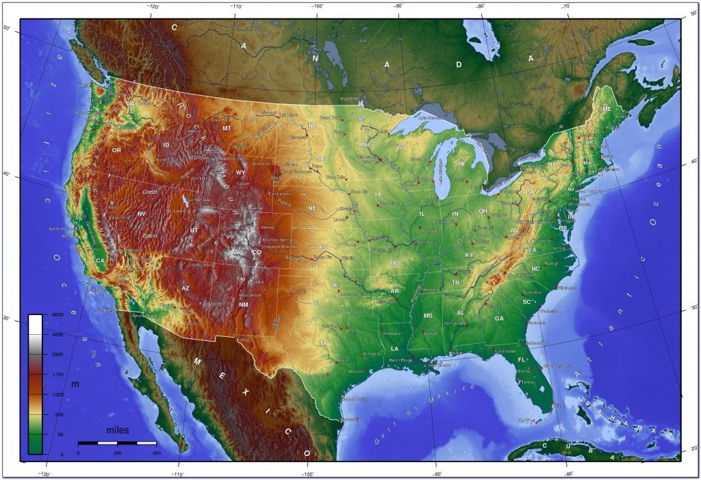 Us Topographic Map - Maps : Resume Examples #7Ppdkvvlne - Baja California Topographic Maps