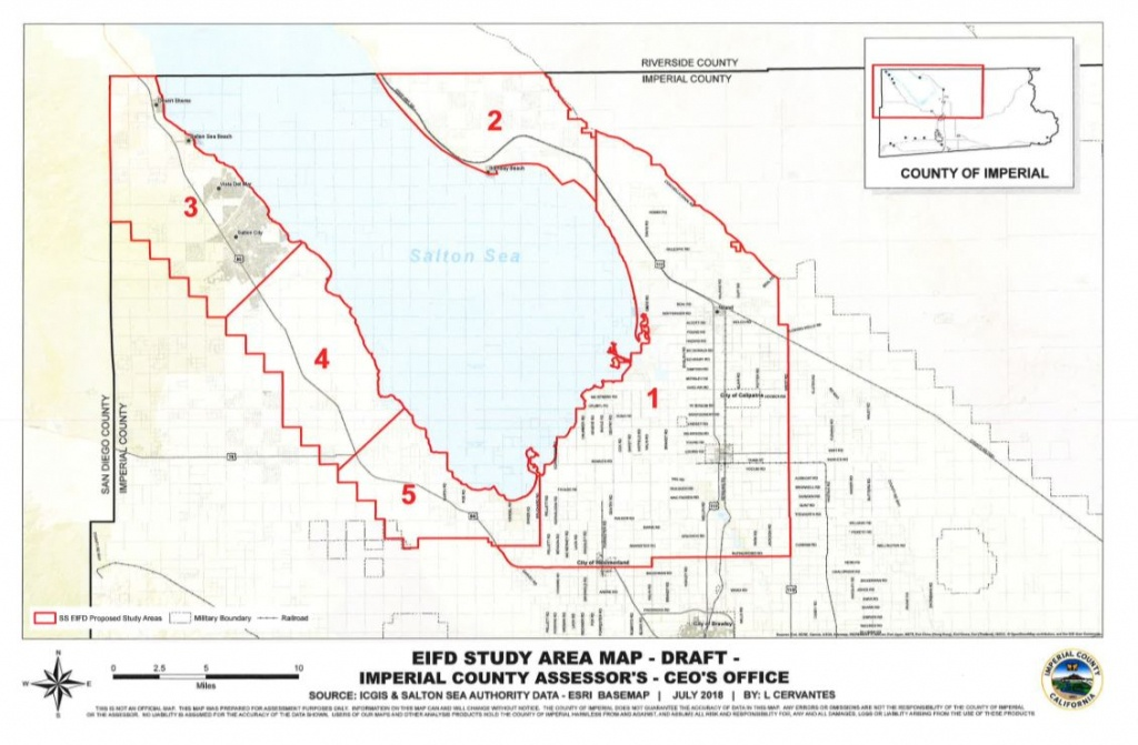 Usa, California: Draft Planning Map For Salton Sea Sets Asides Land - Salton Sea California Map