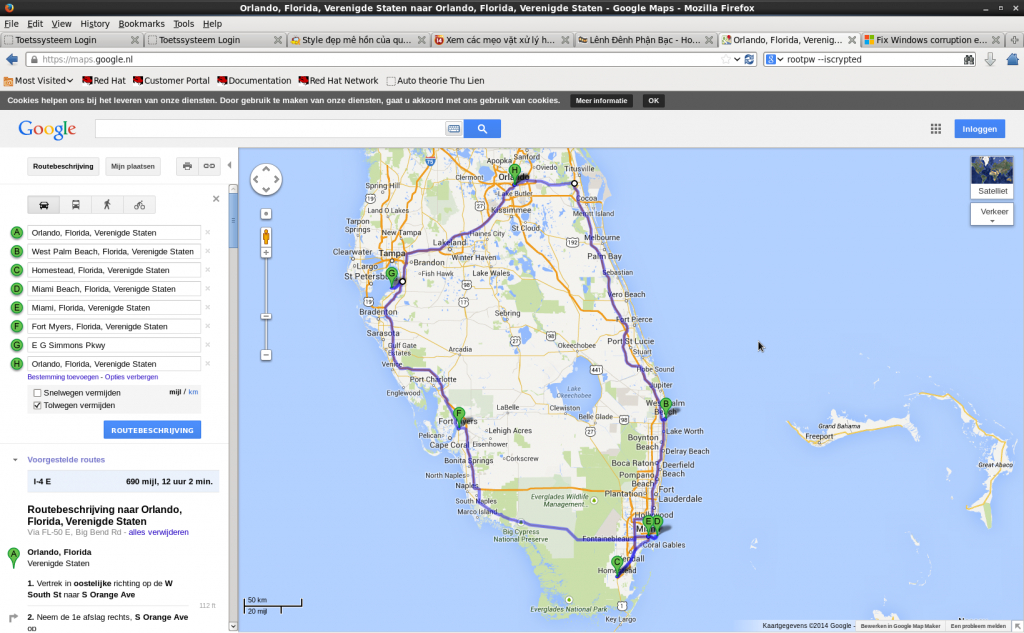Usa East Coast 2014 (656/657) - Google Maps Melbourne Florida