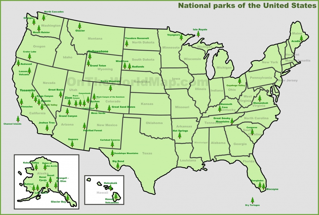 Usa National Parks Map - National Atlas Printable Maps