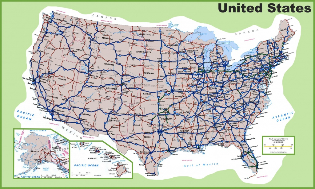 Usa Road Map - Free Printable State Road Maps
