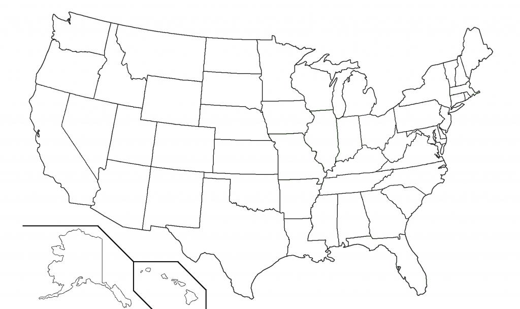Usazoom2C 19 Blank Map Of United States   Sitedesignco - Map Of United States Without State Names Printable