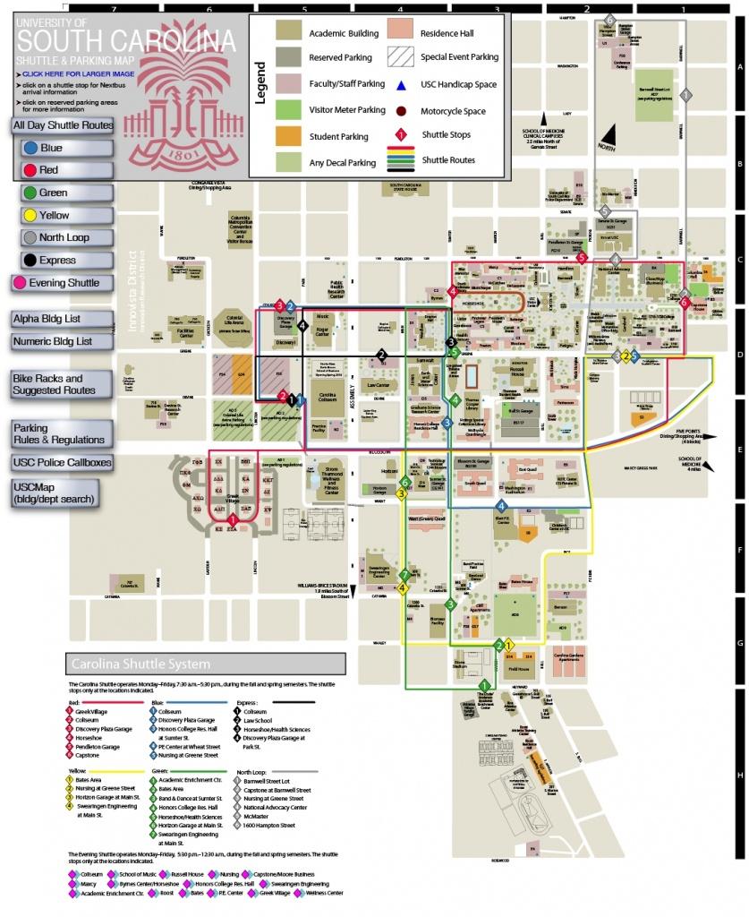 Usc Columbia Campus Map | Compressportnederland - Usc Campus Map Printable