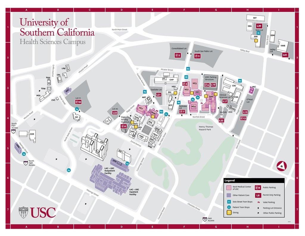 Usc - University Of Southern California - Maplets - University Of Southern California Map