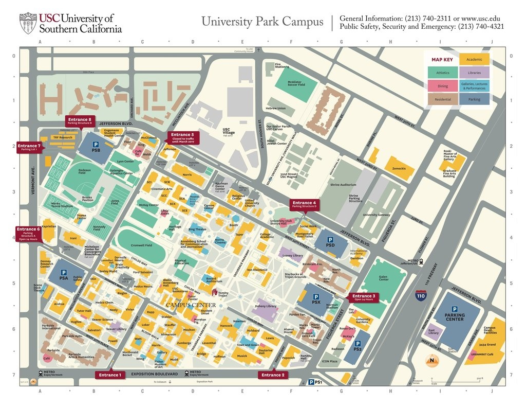Usc - University Of Southern California - Maplets - University Of Southern California Map