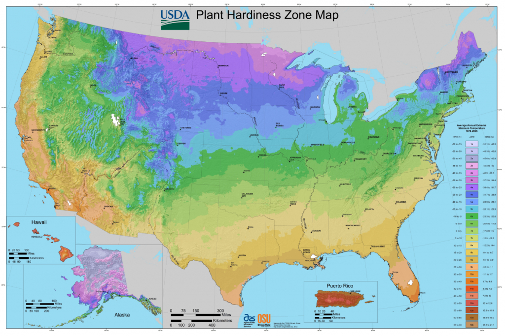 Usda Planting Zones For The U.s. And Canada | The Old Farmer's Almanac - Texas Growing Zone Map