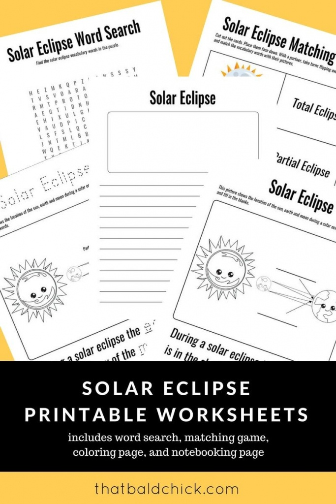 Use These Solar Eclipse Printable Worksheets To Make The Most Of The - Printable Eclipse Map
