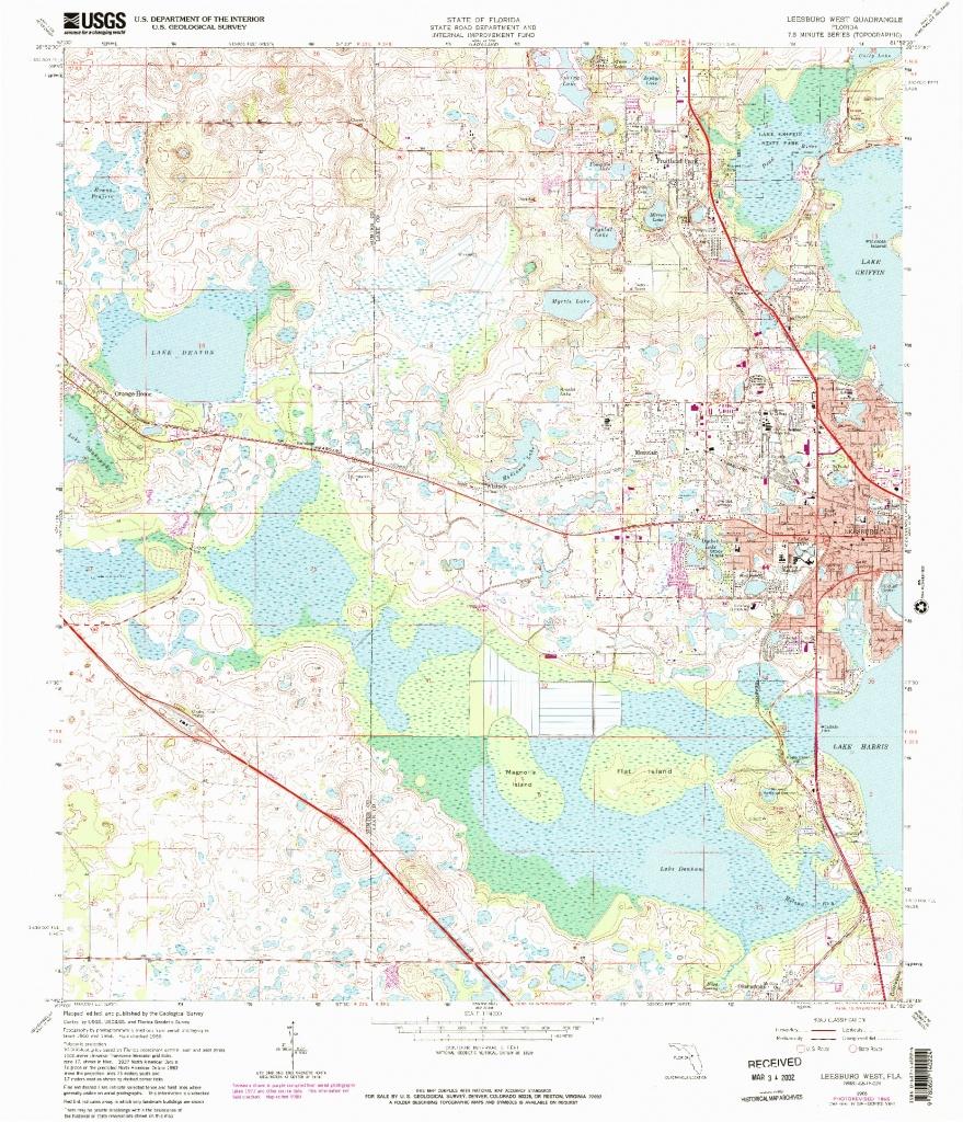 Usgs 1:24000-Scale Quadrangle For Leesburg West, Fl 1966 - Leesburg Florida Map