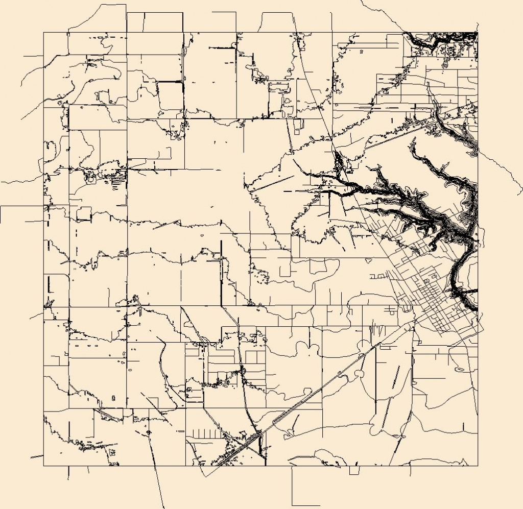 Usgs Combined Vector For Dayton, Texas 20160525 7.5 X 7.5 Minute - Dayton Texas Map