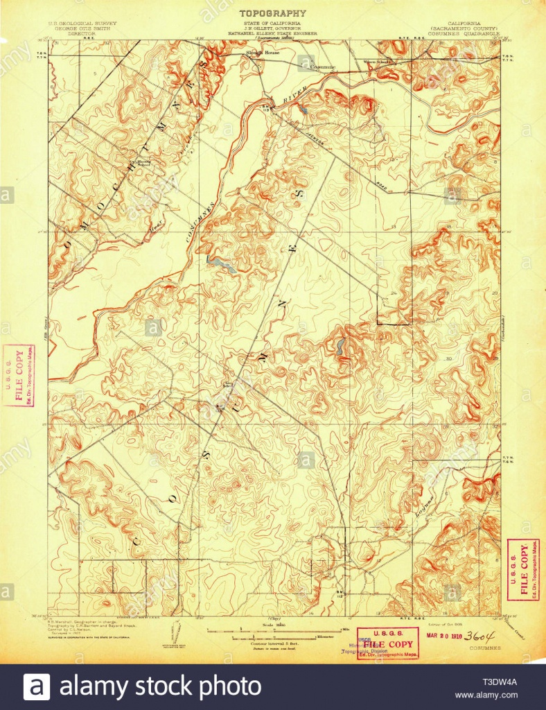 Usgs Topo Map California Ca Cosumnes 296026 1909 31680 Restoration - Usgs Topo Maps California