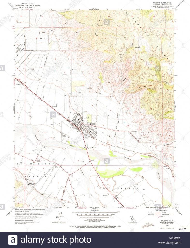 Usgs Topo Map California Ca Soledad 300573 1955 24000 Restoration - Soledad California Map