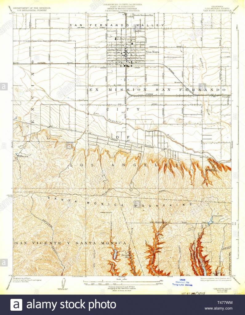 Usgs Topo Map California Ca Van Nuys 295598 1926 24000 Restoration - Van Nuys California Map