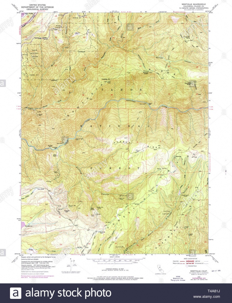 Usgs Topo Map California Ca Westville 301322 1952 24000 Restoration - Ono California Map