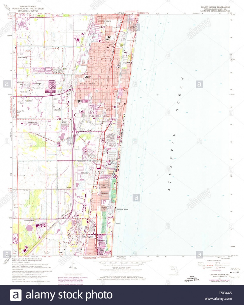 Usgs Topo Map Florida Fl Delray Beach 345829 1962 24000 Restoration - Del Ray Florida Map
