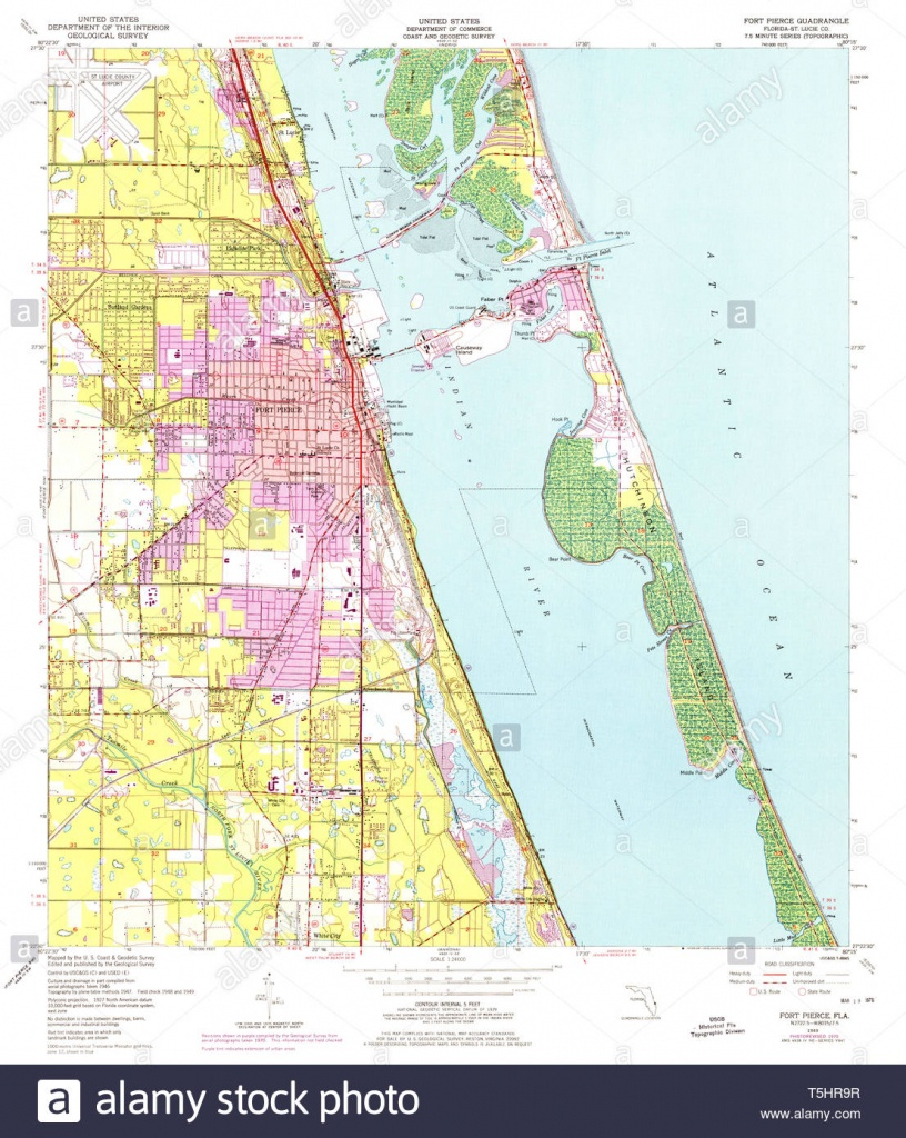 Usgs Topo Map Florida Fl Fort Pierce 346298 1949 24000 Restoration - Hutchinson Florida Map