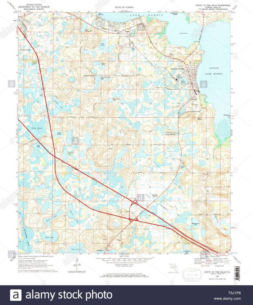 Usgs Topo Map Florida Fl Howey In The Hills 346711 1969 24000 - Howey In The Hills Florida Map