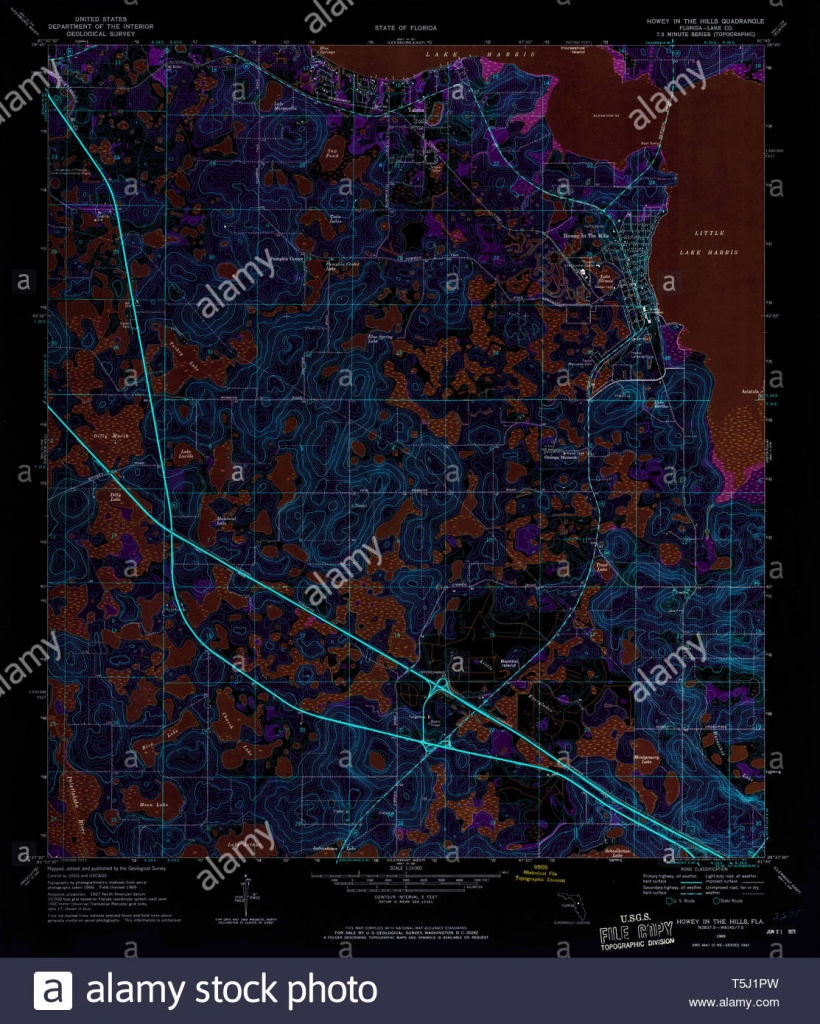 Usgs Topo Map Florida Fl Howey In The Hills 346712 1969 24000 - Howey In The Hills Florida Map