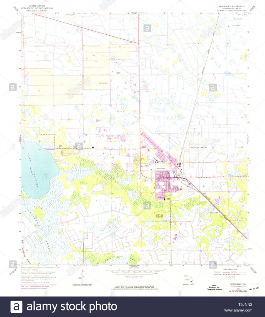Usgs Topo Map Florida Fl Immokalee 346716 1958 24000 Restoration - Immokalee Florida Map