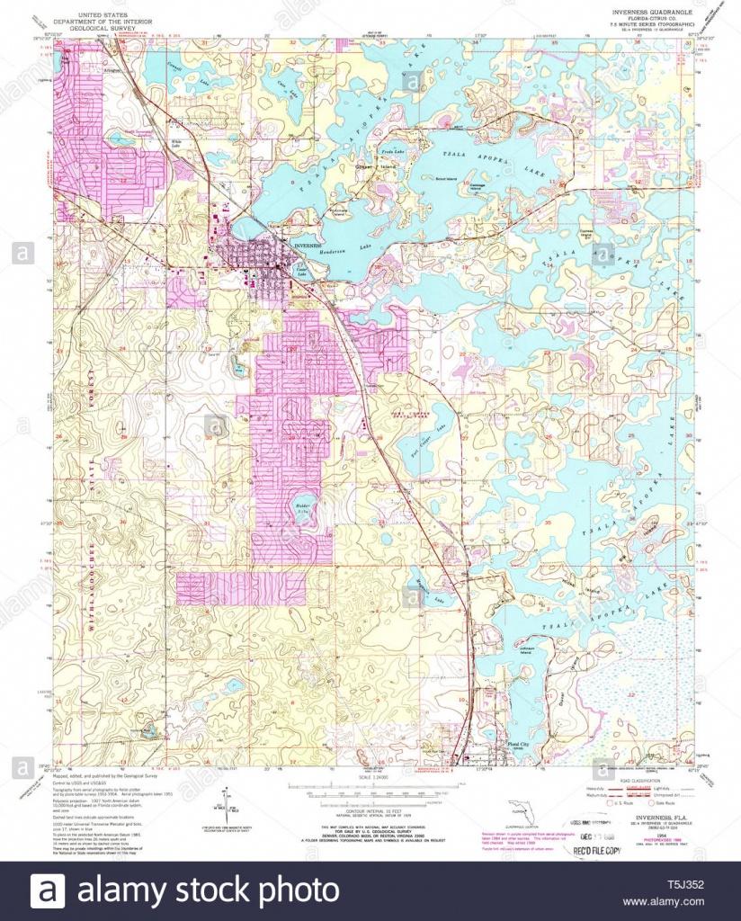 Usgs Topo Map Florida Fl Inverness 346780 1954 24000 Restoration - Usgs Topographic Maps Florida