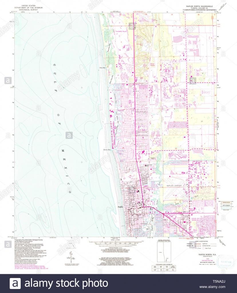Usgs Topo Map Florida Fl Naples North 347607 1958 24000 Restoration - Map Of North Naples Florida