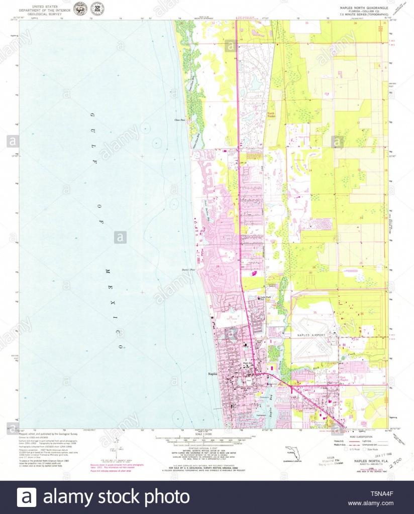 Usgs Topo Map Florida Fl Naples North 347611 1958 24000 Restoration - Map Of North Naples Florida