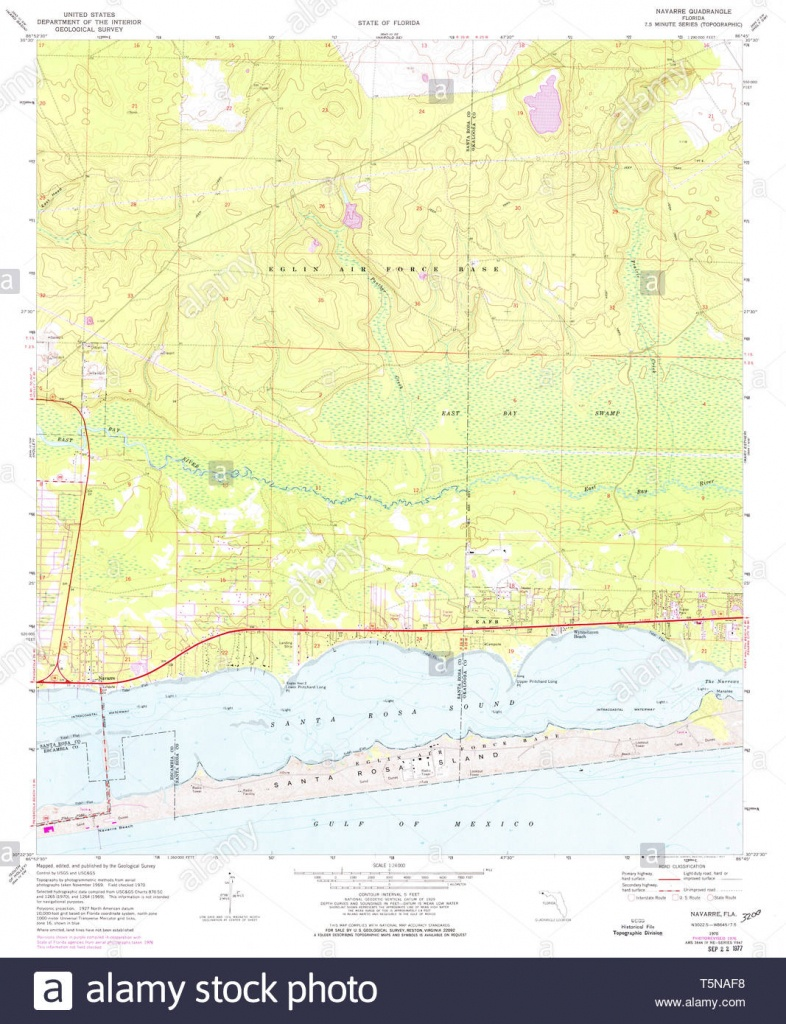 Usgs Topo Map Florida Fl Navarre 347638 1970 24000 Restoration Stock - Navarre Florida Map