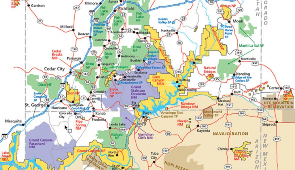Utah Parks Area Map Pdf - My Utah Parks - Printable Map Of Utah National Parks