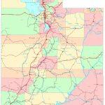 Utah Printable Map   Utah State Map Printable
