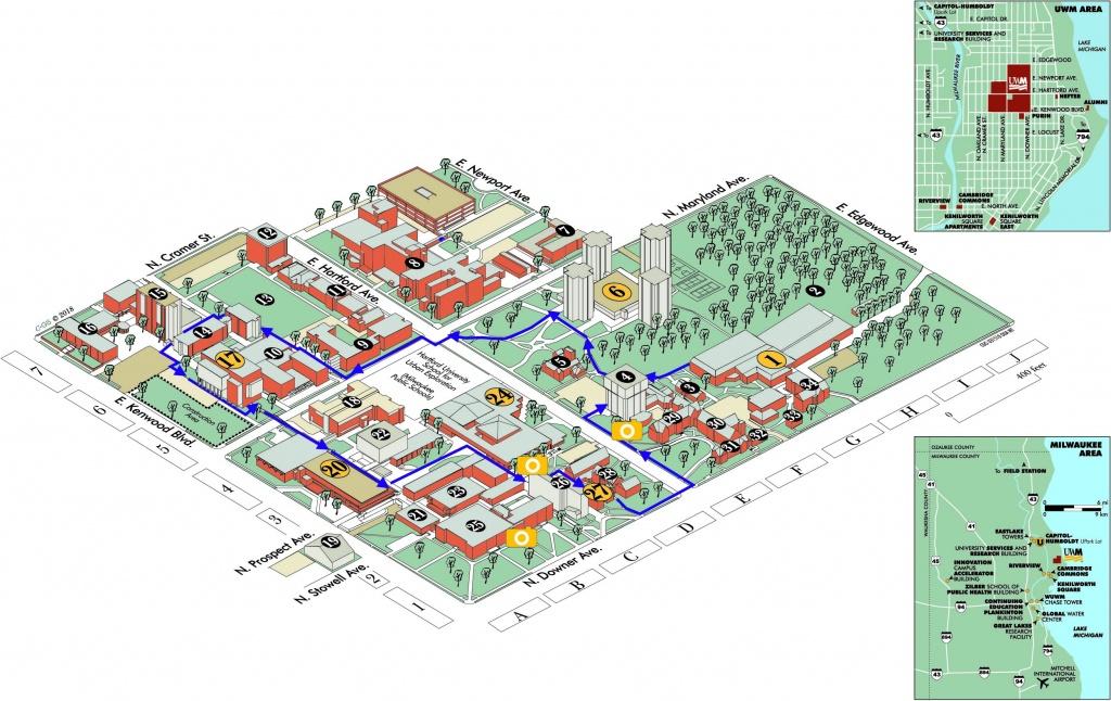 Uwm Campus Map   University Of Wisconsin Milwaukee Online Visitor's - Printable Uw Madison Campus Map