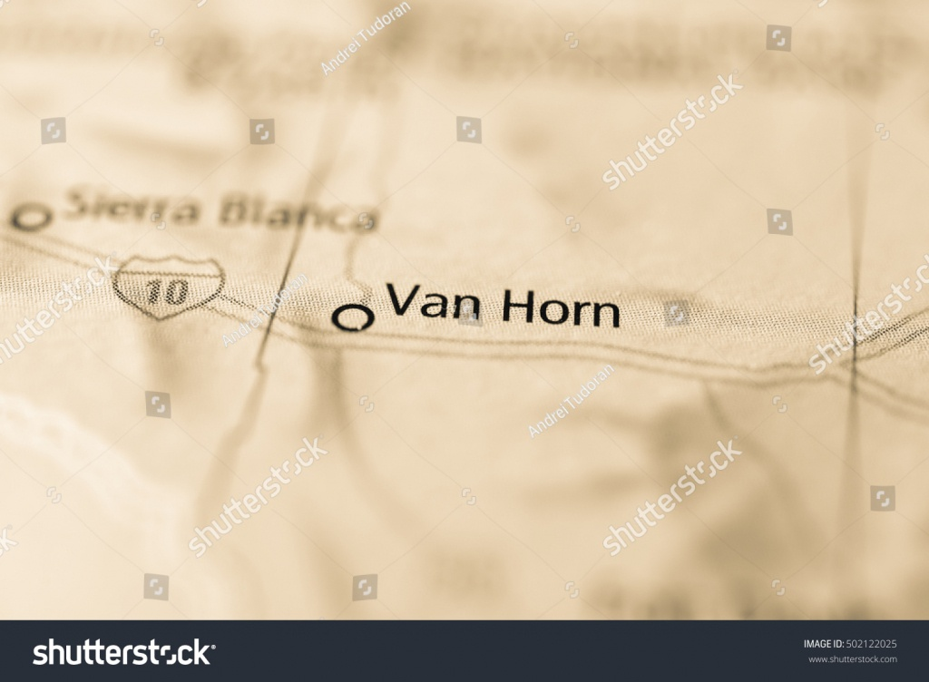 Van Horn Texas Usa Stock Photo (Edit Now) 502122025 - Shutterstock - Van Horn Texas Map
