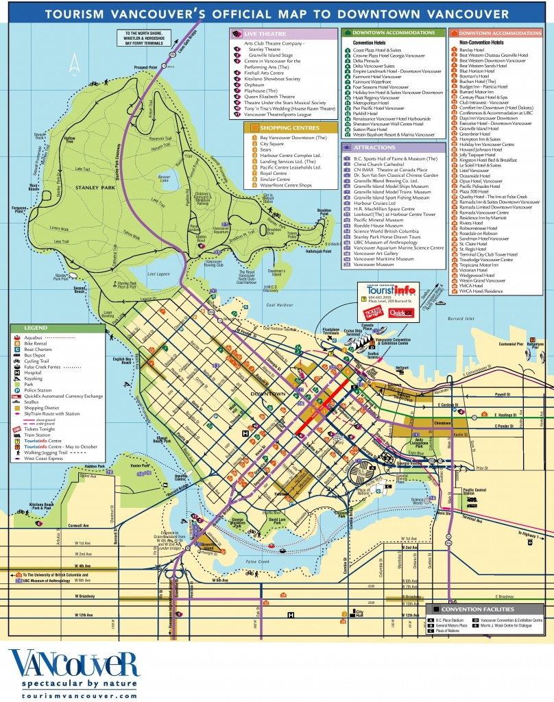 Vancouver Tourist Attractions Map - Printable Map Of Vancouver