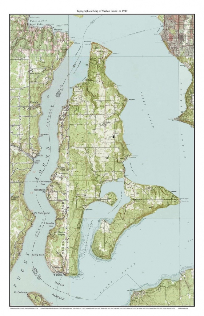 Vashon Island Map Printable