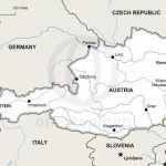 Vector Map Of Austria Political | One Stop Map   Printable Map Of Austria