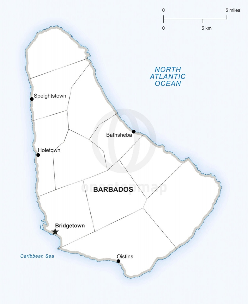 Vector Map Of Barbados Political | One Stop Map - Printable Map Of Barbados