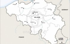 Vector Map Of Belgium Political | One Stop Map   Printable Map Of Belgium