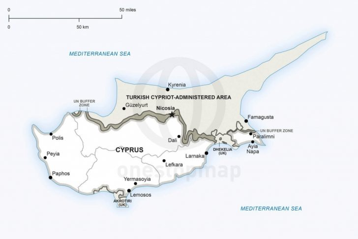 Printable Map Of Cyprus